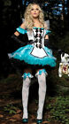 Deluxe SEXY Girl Alice in Wonderland Fancy Dress HALLOWEEN Party Costume Sz 6-14