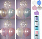Boys /Girls Christening Helium Balloons Ribbon Weights 10 Tables Decoration Kit
