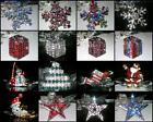 VTG STYLE RHINESTONE CHRISTMAS HOLIDAY GIFT TREE BROOCH PIN~PARTY FAVOR~YOU PICK