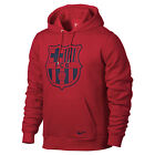 Nike FC Barcelona 2013 - 2014 CR Badge Edition Hooded Top Red (Burgundy)