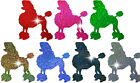 POODLE DOG HOLO IRON-ON BLING NOVELTY DIY PARTY TSHIRT TRANSFER APPLIQUE patch