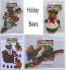 Holiday Christmas Bears Fabric  Scrapbooking Cards tags  Embellishments