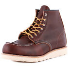 Red Wing Moc Toe 08138-1 Mens Laced Leather Boots Shoes Brown