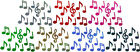 MUSIC NOTES HOLO IRON-ON BLING NOVELTY DIY PARTY TSHIRT TRANSFER APPLIQUE patch