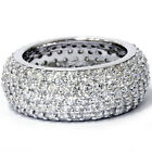 VS 3.50CT HUGE Real Diamond Pave Eternity Anniversary Sparkly 14K Ring Band 4-9