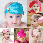 3 Color Infant Baby Toddler Feather Flower make up Diamond Soft Headband Elastic