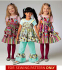 SEWING PATTERN! MAKE GIRLS BOUTIQUE STYLE TOP~DRESS~PANTS~APRON! CHILD SIZE 2~8