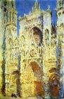 ROUEN CATHEDRAL WEST FACADE SUNLIGHT 1894 CHURCH FRANCE BY CLAUDE MONET REPRO