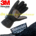 Mens Fleece Gloves 3M Warm lined Thinsulate Thermal Polar Fleece Anti Pil 40g