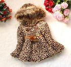 2015 New Hooded Leopard Girl's Coats Children Clothing Kids Clothes Outwear