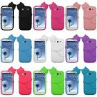 White/Black/Pink/Blue Cat Peeting Gel Case Cover For Samsung Galaxy S3 III i9300
