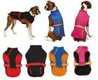 TREK SPORT JACKET All Weather Rain Coat for ACTIVE Dog, Vest with Fleece Lining