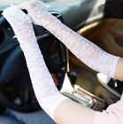Sexy Black/White Lace Elbow Long Gloves Evening Wear Fancy Ball Wedding BL9601