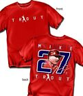 Mike Trout Los Angeles Angels Silhouette T-shirt  - Adult Sizes Brand New
