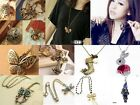 Retro Vintage Crystal Fashion Charms Pendant Long Sweater Coat Chain Necklace