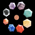 1 x Faceted Worry Stone Reiki Healing Crystal Gridding Palm Chakra Balancing