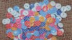CLEARANCE - 1000 GINGHAM PATTERNED 12MM RESIN BUTTONS #BLUE OR PINK #CLEARANCE