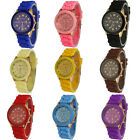 Free shipping beautiful boys and girls jelly silicon crystal quartz watches, W12
