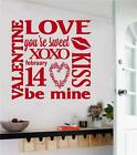 Valentines Gift Decor Vinyl Wall Decals Sticker Words Letters Love Subway Art