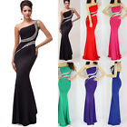 PLUS SIZE 2015 Women One Shoulder SLIM Gown Evening Prom Party Bridesmaid Dress