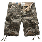 NEW MENS FOX JEANS CAUSAL CAMO MILITARY ARMY MEN'S CARGO WORK SHORTS SIZE 32-44