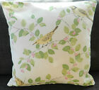 "1 CUSHION COVER-made laura ashley AVIARY GARDEN apple gre12""14""16""18""20"" 22"" 24"