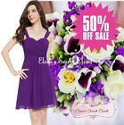 BNWT AMY Violet Purple Chiffon Prom Evening Bridesmaid Occasion Dress SALE!!!