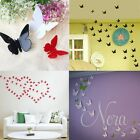 24pcs New 3D DIY Wall Sticker Stickers Butterfly Home Decor Room Decorations
