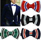 Mens Adjustable Neckwear Wedding Party Knit Bowknot BowTie Tuxedo 015 Bow Tie