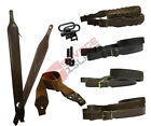 Bisley Genuine Leather Rifle/Gun Sling with Optional Swivel & Screw Studs