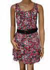 BN Ladies Black & Pink Floral Evening Dress  - UK 14, 18 & 20