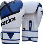 RDX Leather Gel Boxing Gloves Fight, Punch Bag MMA Muay Thai Grappling Pad R AU