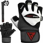 RDX Leather Weight Lifting Body Building Gloves Fitenss Training Gym Workout