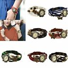 Retro Weave Around Leather Bracelet Watch Fashion Woman Quartz Wrist Watch New