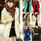 Womens Long Fleece Lined Hooded Cardigan Sweater Knit Jacket Coat Knitwear