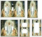 new balance outlet los angeles - JESUS WITH TWO ANGELS   IMAGE  LIGHT SWITCH COVER PLATE U PICK SIZE