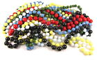 Single Strand Very Long Rope Bead Necklace Red Black Green Blue Yellow White
