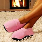 Soothing Comfort Wheat Grain Heating/Cooling Microwaveable Slippers-in 2 Colors