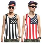 USA Flag Shirts Muscle Shirt Sleeveless Shirt NYC America Flag YMCMB NBA