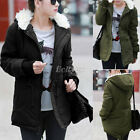 Women Ladies Warm Winter Cotton Padded Quilted Hooded Puffer Coat Jacket Parka