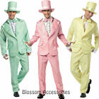 C916 FunkyTuxedo Mens 60 70s Prom Suit Halloween Fancy Dress Adult Party Costume