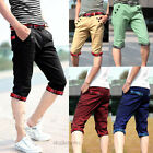 New sport Casual outdoor shorts men beach Pants Plaids Flanging Cropped Trousers