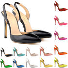 Girls Womens Party Wedding Patent High Heels Shoes Sandals Size 2 3 4 5 6 7 8 9