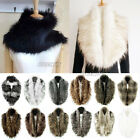 Women Faux Raccoon Fur Fluffy Collar Scarf Shawl Stole Wrap Scarves Warmer