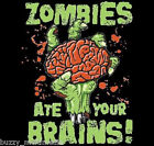 Zombies Ate  Your Brains Shirt, zombie t-shirts, funny zombies, zombie gifts