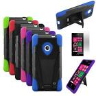 Phone Case For Nokia Lumia 521 Corner Hard Cover Stand + Screen Protector