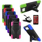 Phone Case For Motorola Droid Ultra Hybrid Corner Cover Stand+ Car Charger +LCD