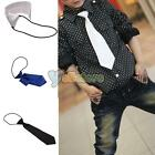 New Boys Toddlers Child Clip On Necktie Kids Elastic Wedding Solid Tie 3 Colors