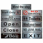 Silver Metal Pub Shop Business Toilets Letterbox Front Door Signs Notice Plate