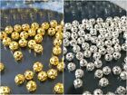 500/1000pcs Round Hollow Face Gold/Silver Plated Spacer Finding Loose Bead 4mm